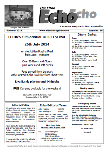 Elton Echo Issue 38 (Summer 2014)