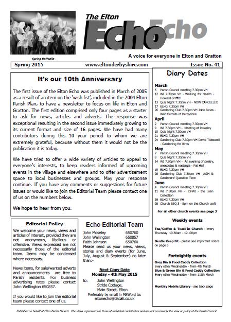Elton Echo - Issue 41 (Spring 2015)