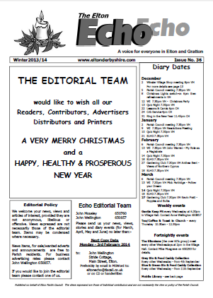 Elton Echo Issue 36 (Winter 2013)