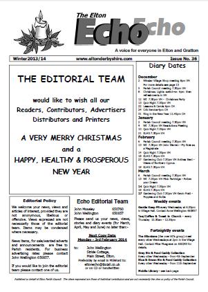Elton Echo Issue 36 (Winter 2013)