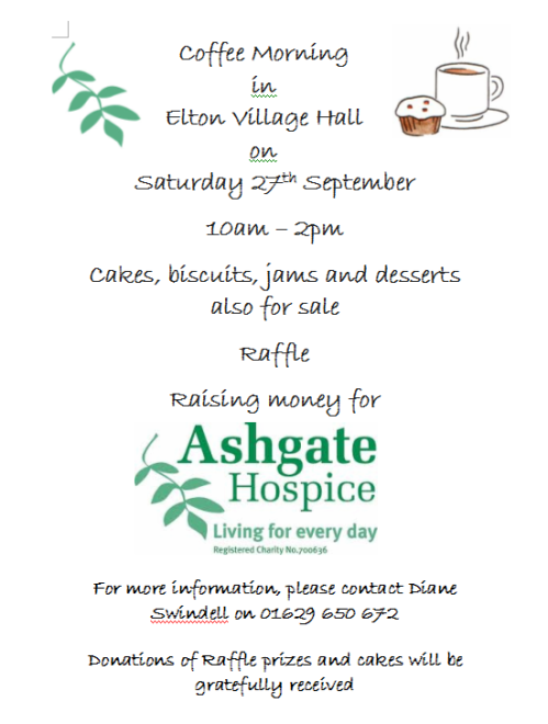Coffee Morning in aid of Ashgate Hospice