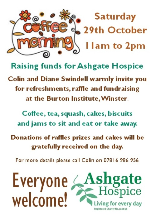 Ashgate Hospice Fundraiser- Saturday 29 October 2016