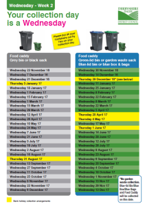 Waste Collection Calendar 2017