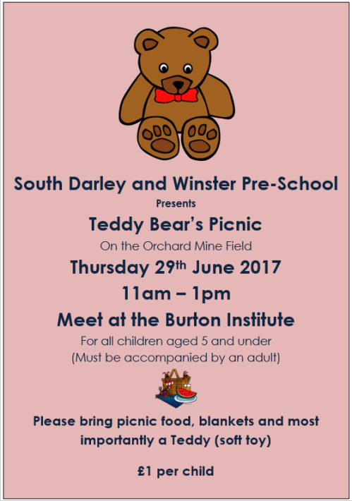 Teddy Bear's Picnic - Thursday 29 June 2017