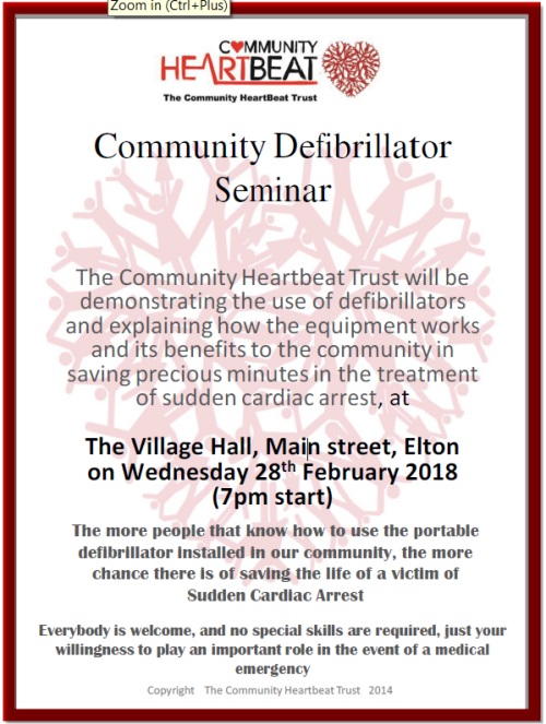 Defibrillator Community Training