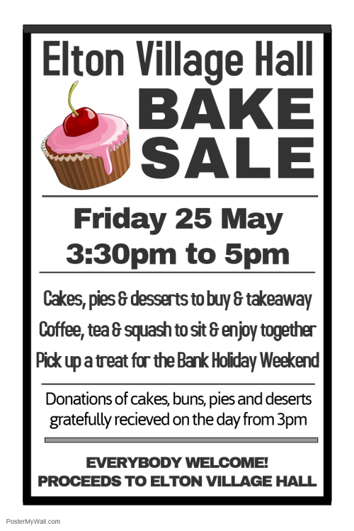 Elton Village Hall Bake Sale