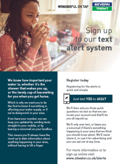 Severn Trent Text - Alert System