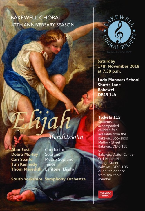 Bakewell Choral Society - 40th Anniversary Season