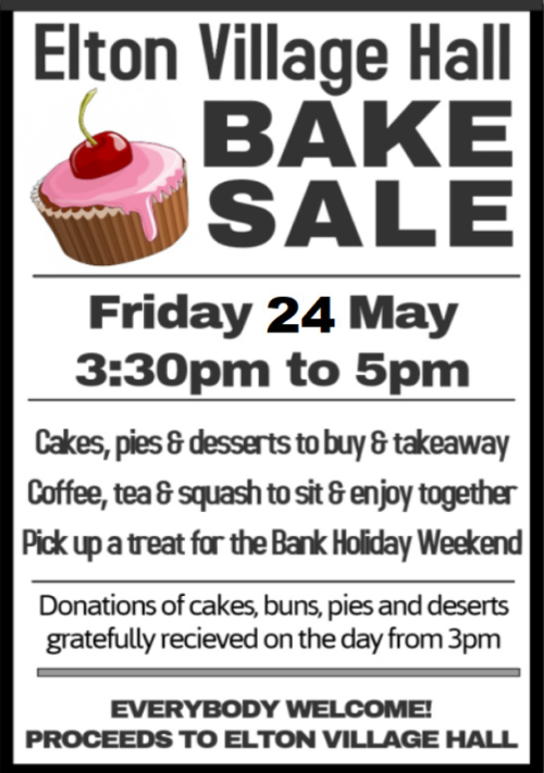 Village Hall Bake Sale - 24 May 2019