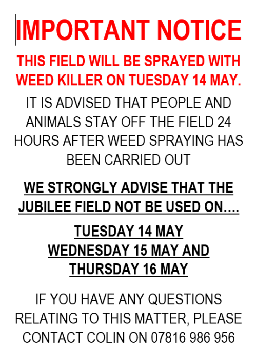Weed Spraying on Elton Jubilee Field