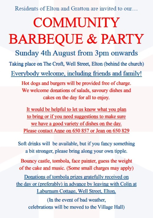 Elton Community Barbeque and Party 2019