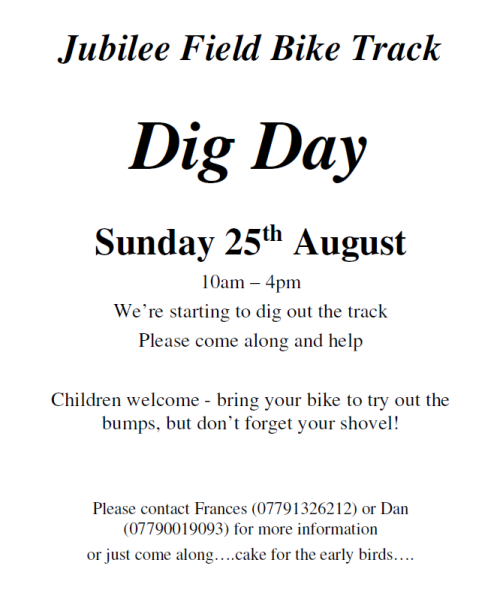 Jubilee Field Bike Track - Dig Day