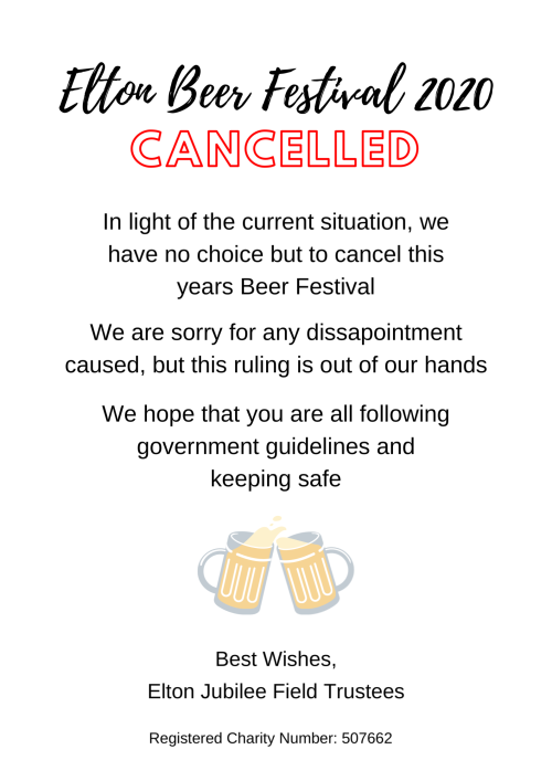 Elton Beer Festival 2020 - Cancelled
