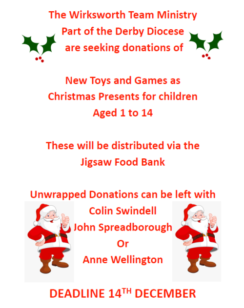 Jigsaw Food Bank Christmas Toy Appeal 2020